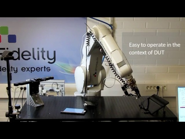 6-Axis robot with the new OptoFidelity Touch and Test software