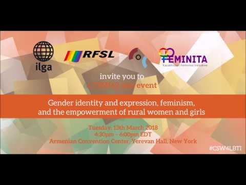 Gender identity and expression, feminism, and the empowerment of rural women and girls