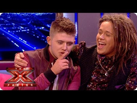 Nicholas McDonald and Luke Friend have a little bromance going on - Live Week 8 - The Xtra Factor UK