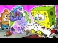 OMG! Don't Go Street Cat😿   Poor SpongeBob Animation   Odd Eye Spongebob   SLIME CAT