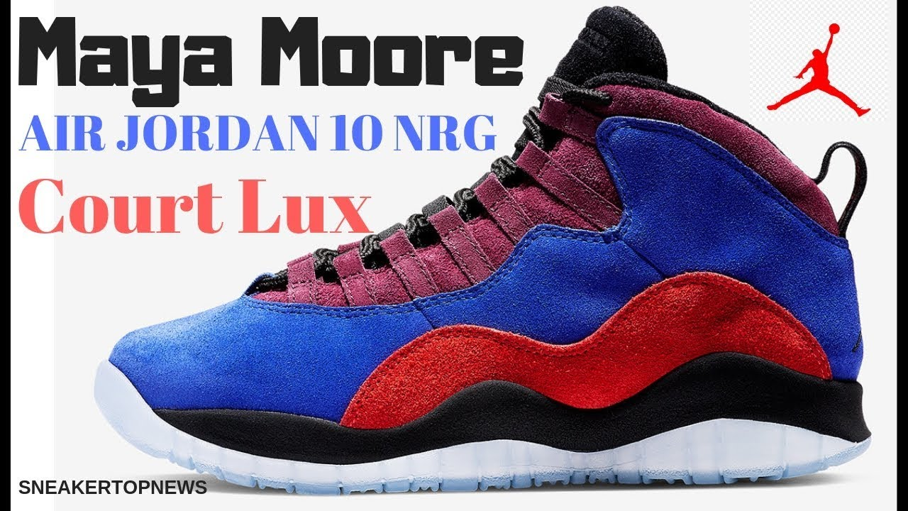 """6064e6012dc085 Maya Moore s Air Jordan 10 NRG """"Court Lux"""" Releases On December 22nd ..."""