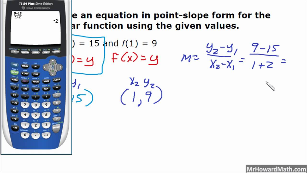 Point slope form equation calculator gallery standard form examples writing linear equations in point slope form youtube writing linear equations in point slope form falaconquin falaconquin