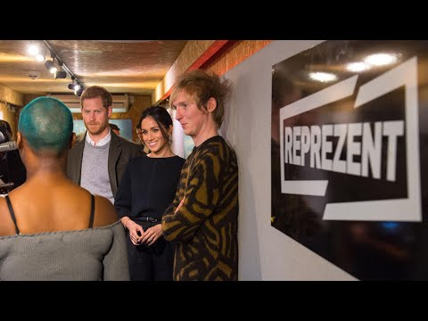 Prince Harry and Meghan Markle visit Brixton radio station