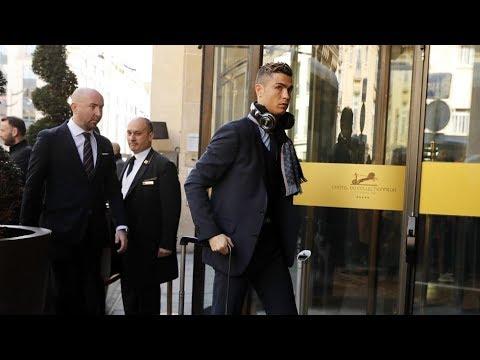 El Real Madrid llega a su hotel en París