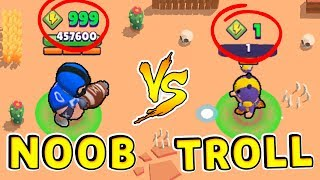 BEA TROLL vs BULL NOOB !!! Funny Moments Brawl Stars #26