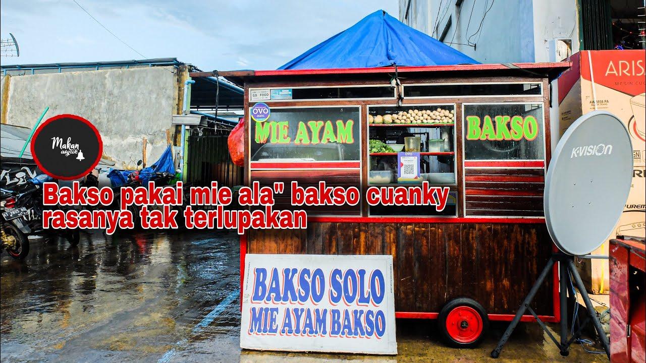"Murah meriah !!! bakso solo mirip ala"" bakso cuanky ll streetfood samarinda II"