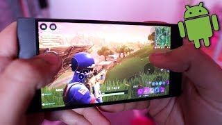 Playing FORTNITE On My New ANDROID PHONE! | Fortnite Mobile App Android Gameplay