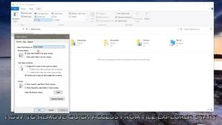 Windows 10: Tips and Tricks - HOW TO REMOVE QUICK ACCESS FROM FILE EXPLORER START / Video Tutorial /