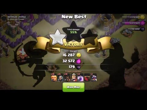 Clash of Clans | Skeleton Traps VS Hog Riders! 1080p