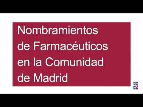 Nombramiento de Farmacéuticos Comunidad de Madrid