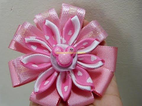 Download video tutorial mo os y flores en list n lazo - Lazos con cintas ...