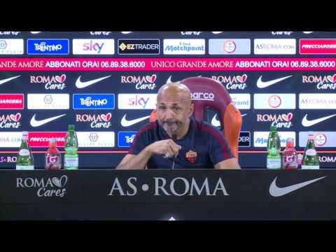 """Conferenza stampa Spalletti: """"Un Olimpico vuoto è dannoso per la squadra"""""""
