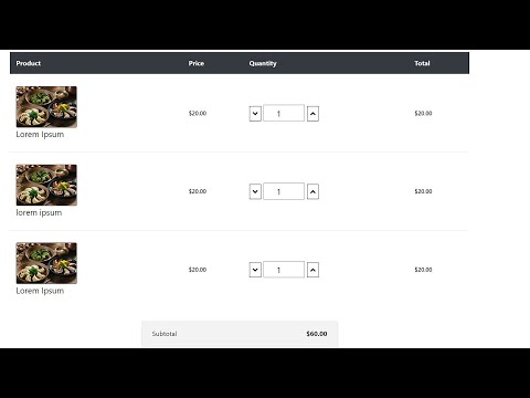 Create a shopping Cart Page   How to design a Shopping Cart Page   HTML 5   CSS 3   Bootstrap