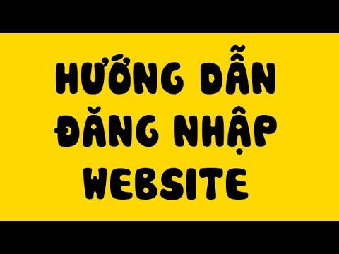 Hướng dẫn đăng nhập website