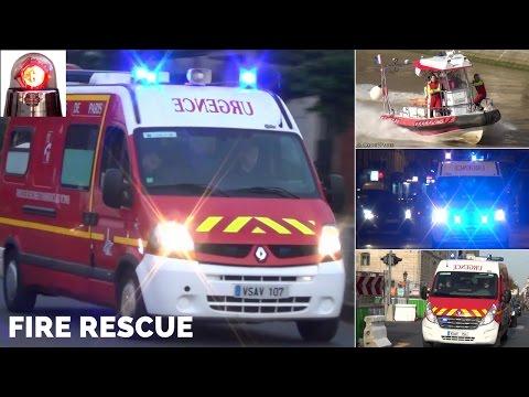 Ambulances Responding Compilation - Paris Fire Rescue BSPP