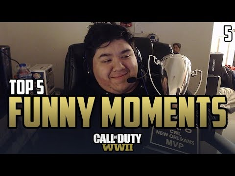 COD WWII: TOP 5 PRO FUNNY MOMENTS #5 - Call of Duty World War 2