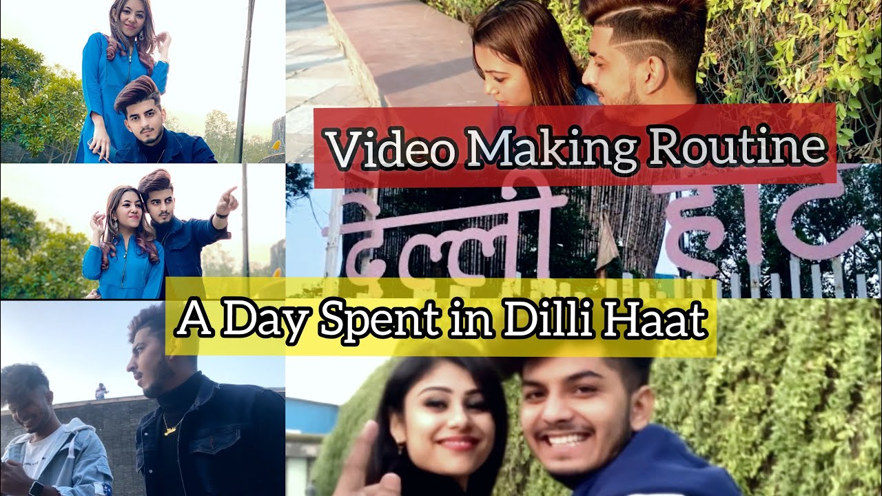 Download A Day Spent In Dilli Haat 🤩 | Video Making Routine As A Couple ( Daily Routine Video ) || VM Vlogs