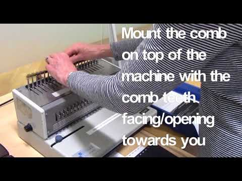 How to Comb Bind Using the Manual Machine