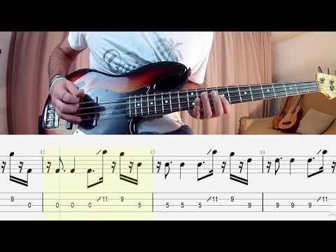 Coldplay - Orphans BASS COVER + PLAY ALONG TAB + SCORE