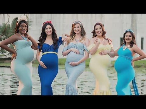 Moms Dress Like Disney Princesses For Maternity Photos
