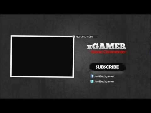 xgamer2 end screen outro psd youtube. Black Bedroom Furniture Sets. Home Design Ideas