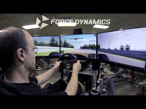 Force Dynamics 401cr racing simulator - Lotus 49 engine torture (iRacing / Watkins Glen)