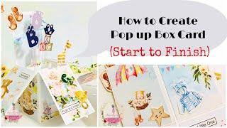 How to make Pop up Box Card | Step by Step | Ruchi's Crafeteria