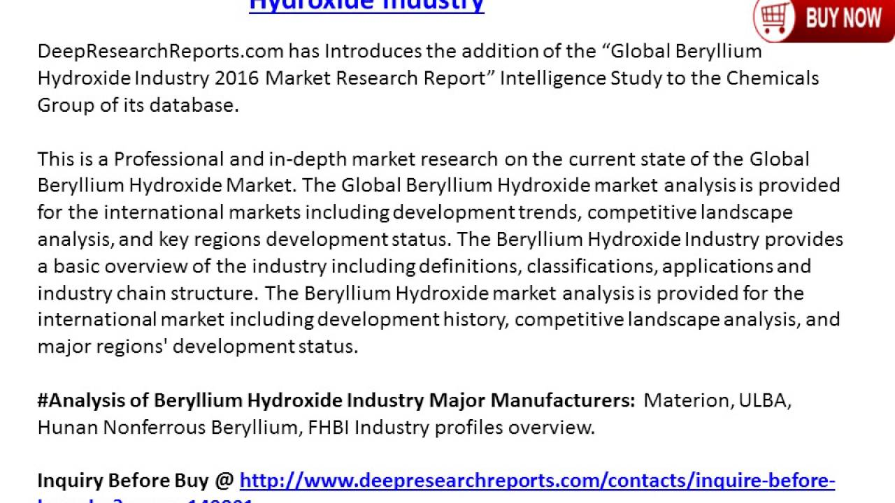 2016 2021 global beryllium hydroxide industry trends survey and 2016 2021 global beryllium hydroxide industry trends survey and prospects report dailygadgetfo Images