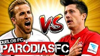 ♫ HARRY KANE vs LEWANDOWSKI | DUELOS FC #16 | Paródia Oh Bebê - Kevinho