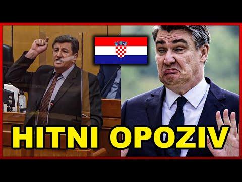 """Željko Sačić zaratio sa predsjednikom Milanovićem: """"Tražiti ćemo hitni opoziv predsjednika"""""""