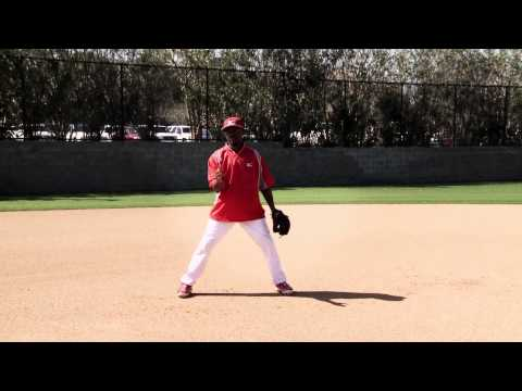 Fielding a back handed ground ball with Jimmy Rollins