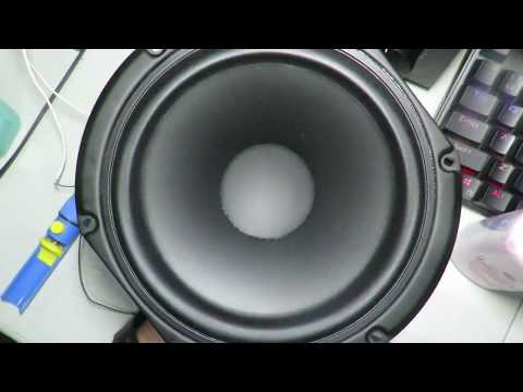 """Peerless/Tymphany 6.5"""" Woofer Excursion Test in Free Air."""