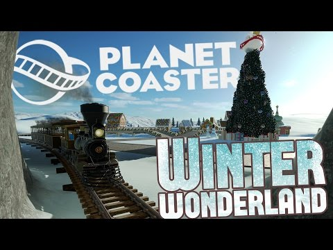 Planet Coaster Winter Update - Building A Christmas Village! - Planet Coaster Gameplay Highlights