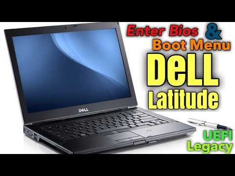 Enter Bios Setup On Dell Latitude, Legacy And UEFI Boot Mode