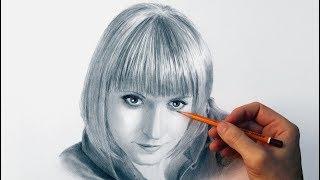 Портрет девушки карандашом - time lapse video.(Рисование женского портрета карандашом в ускорении (мастер класс от художника Андрея Маркова). В этом ролик..., 2016-02-19T16:07:03.000Z)