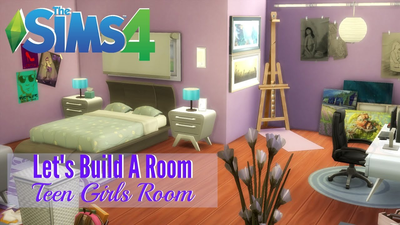 The Sims 4 : Letu0027s Build A Room   Teen Girls Room   YouTube