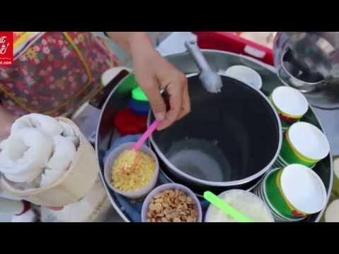 Pattaya Street Food | Thai Coconut And Ice Cream With Rice | Pattaya Beach Road | Asian Street Food