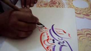 poetry by moulana jami calligraphy by world famous calligraphest khurshid gohar qalam.