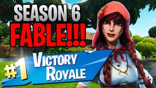"Season 6 ""Fable"" Skin!! (10 Kill Solo Victory) - Fortnite: Battle Royale Gameplay"