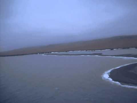 Панорама острова с вертолета.
