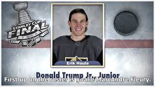 Ahead of the Stanley Cup Final, Jimmy Fallon featured Capitals and Golden Knights players in NHL ...