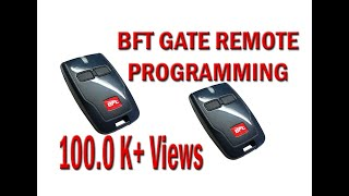 how to make programming bft gate remote using old remote