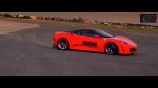 Ferrari vs Lamborghini Aventador - Engines roaring BONUS Dubai Police Car inc commentary