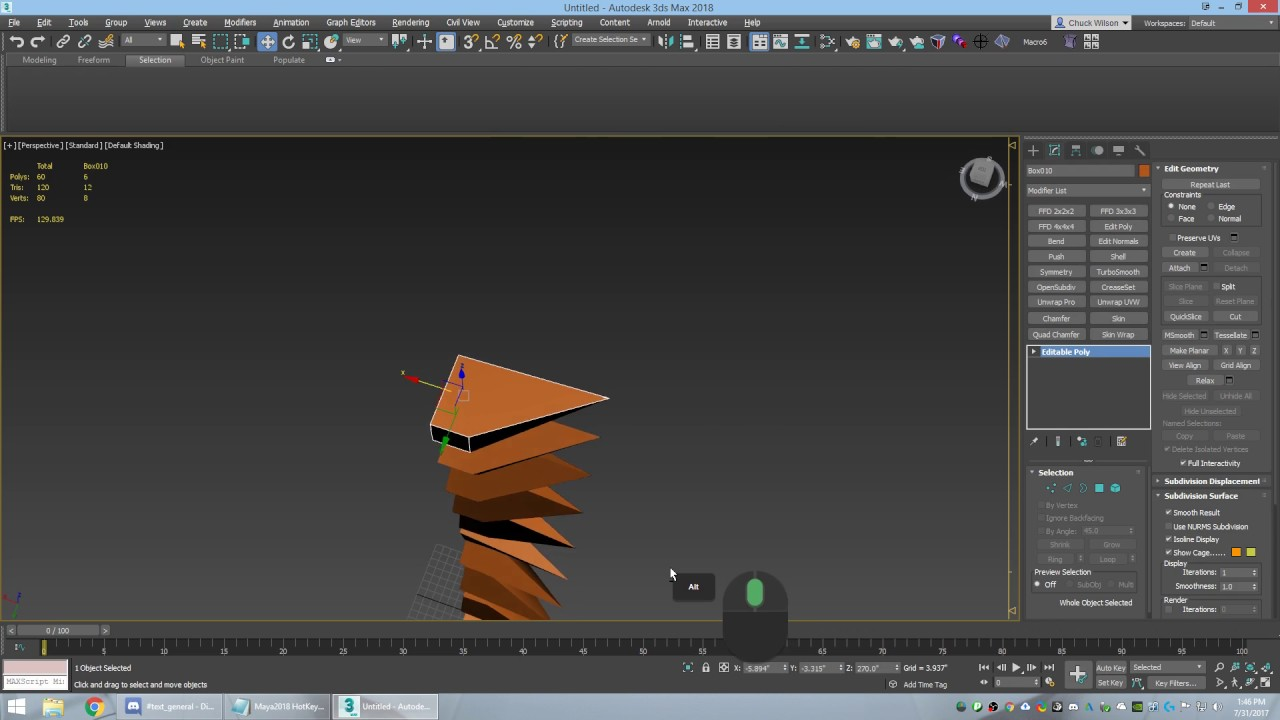 Instance Copy AutoDesk Maya and 3DS Max 2018
