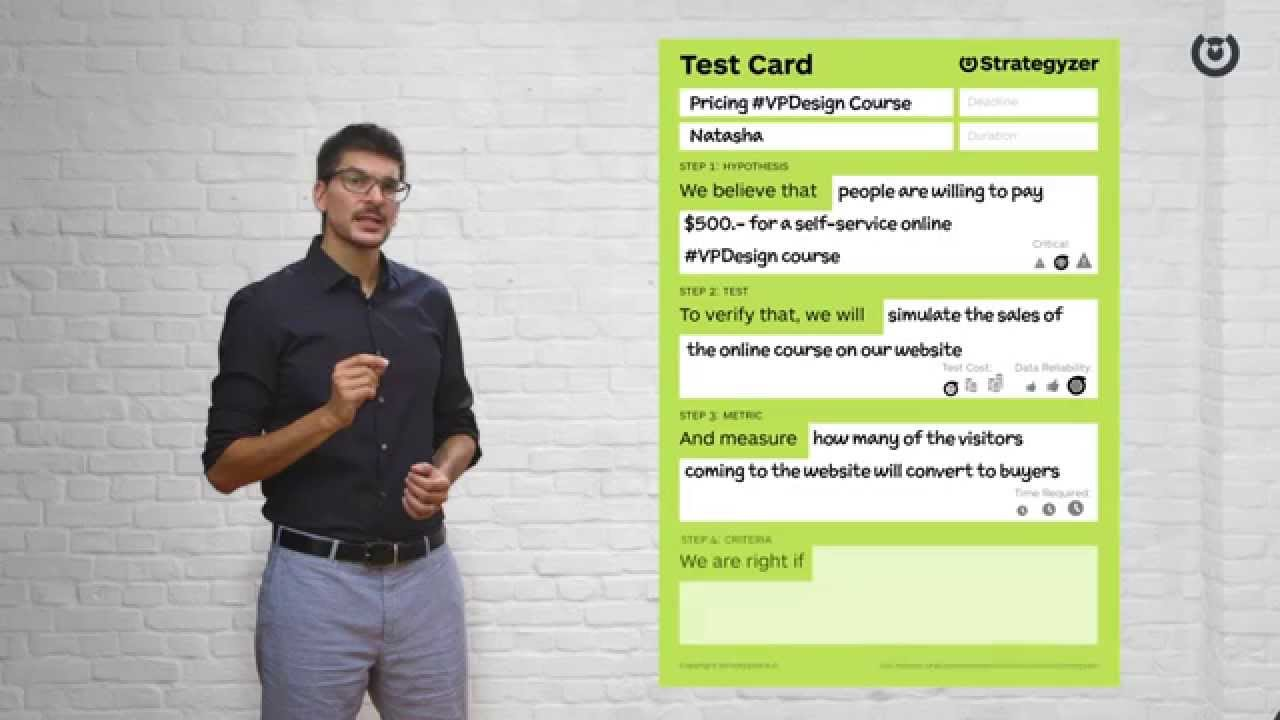 Validate Your Ideas with the Test Card