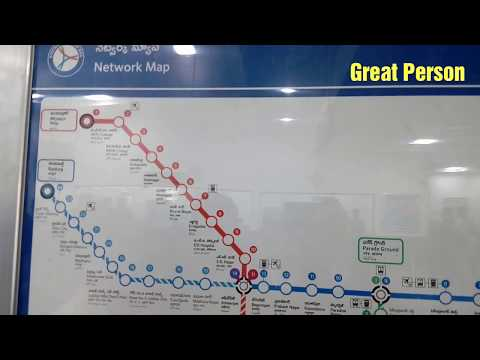 Hyderabad Metro Train Route Map Video - Metro Rail Route Map Video