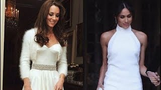 WATCH!!! Meghan Markle's SECOND WEDDING DRESS Makes Kate's Look Like a Dramatic Ceremony Gown!!!