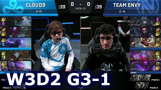 Cloud 9 vs Team EnVy Game 1 | S7 NA LCS Spring 2017 Week 3 Day 2 | C9 vs NV G1 W3D2