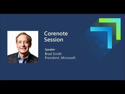 Microsoft Inspire 2019 Corenote With Brad Smith