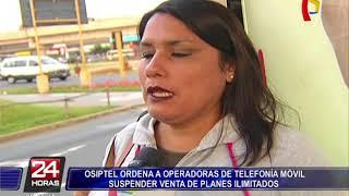 OSIPTEL ordena a operadoras de telefonía móvil suspender venta de planes ilimitados